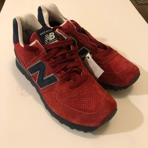 NEw Balance US574XAD USA Red Men size8 New Classic